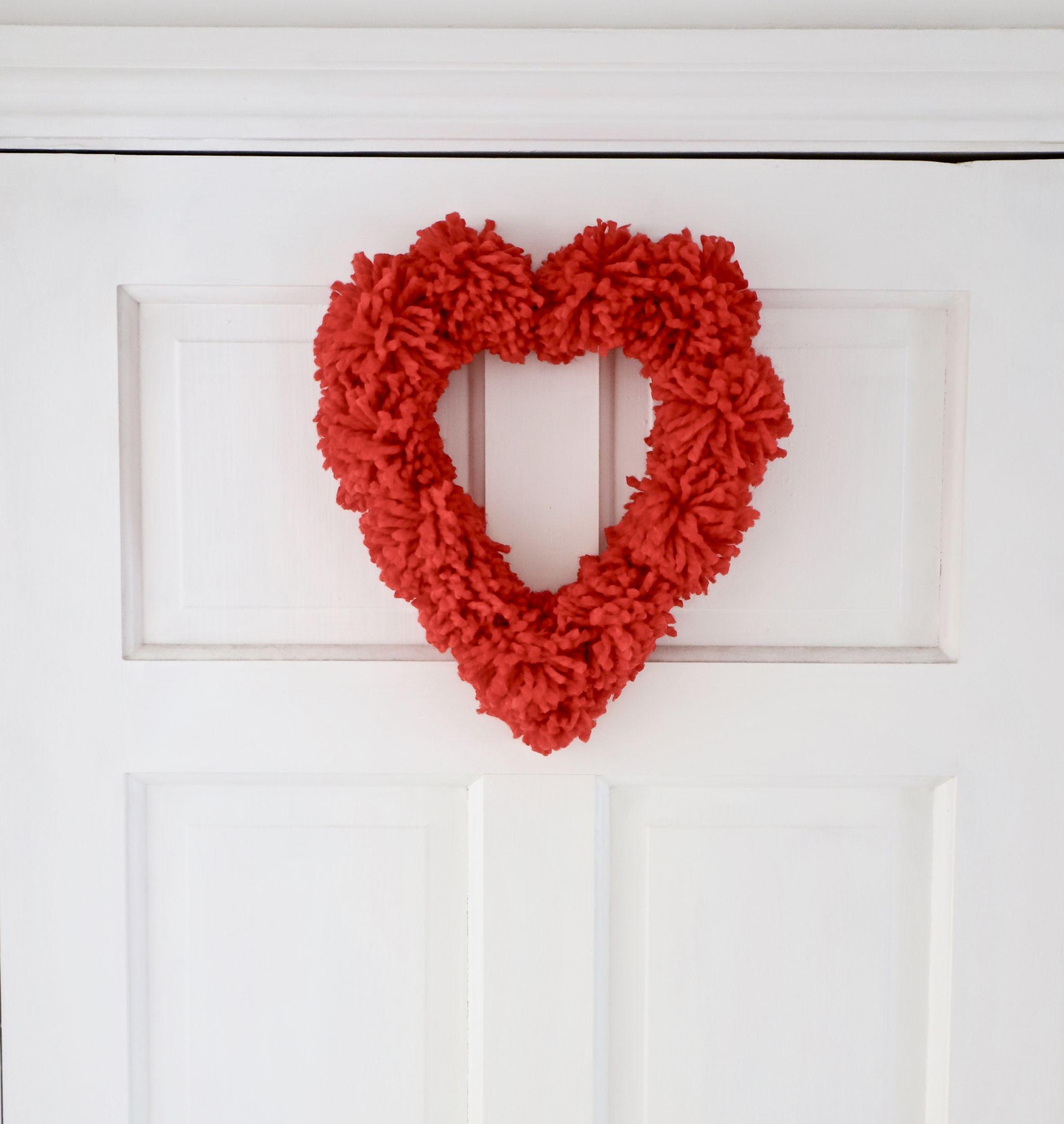 Wool Valentines day DIY