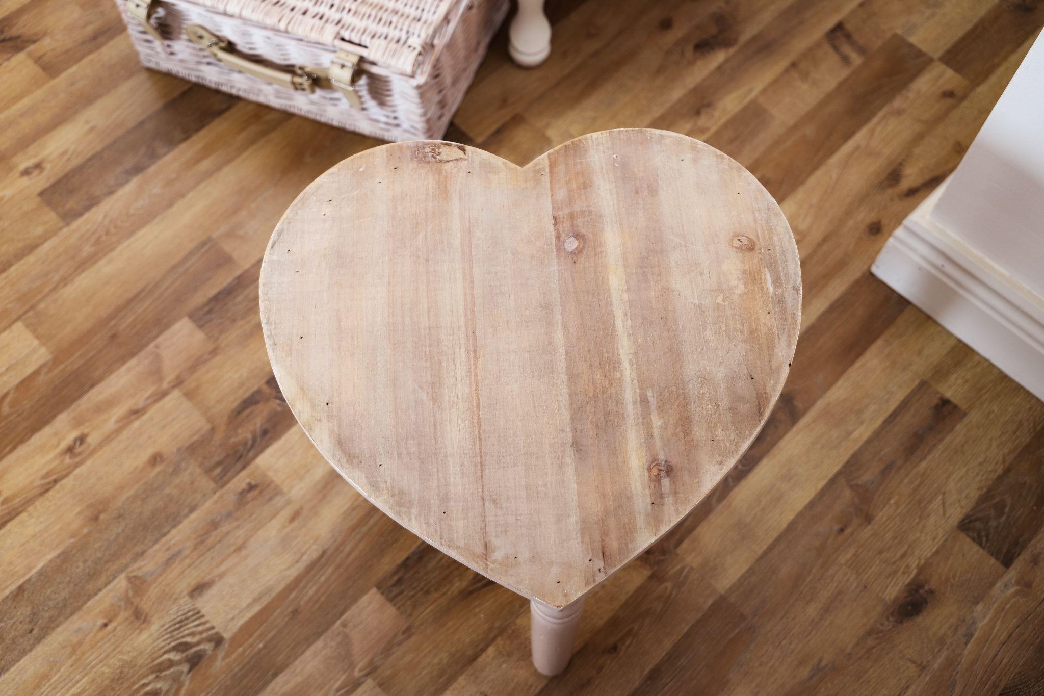 DIY Love Heart Stool