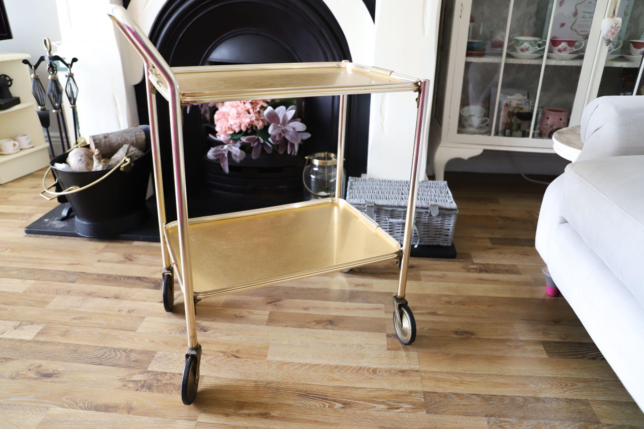 restoring an old bar cart