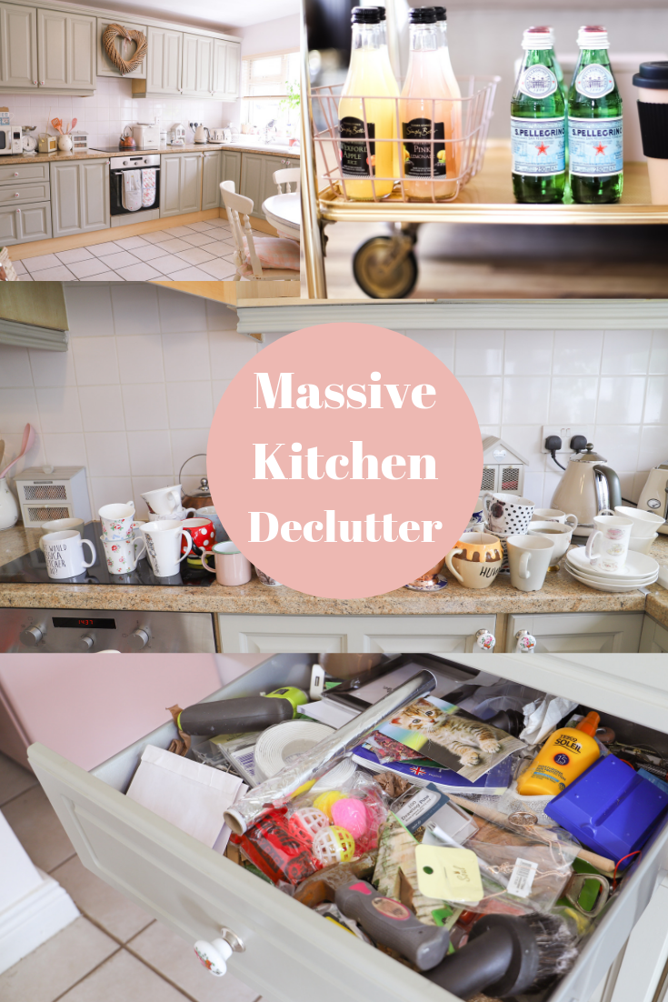 Small kitchen declutter and organisation