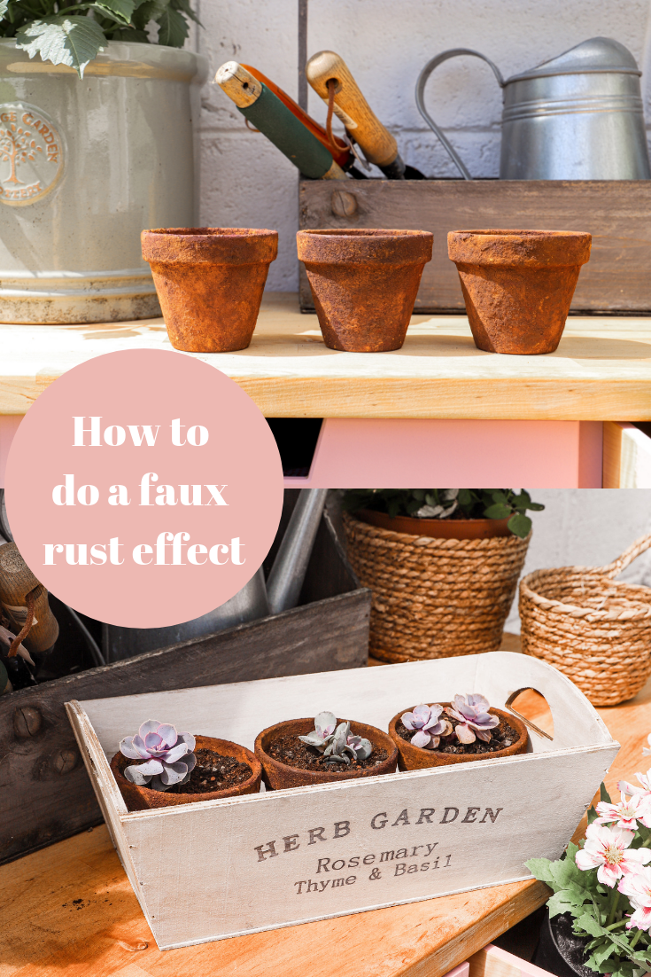 How to do a faux rust effect