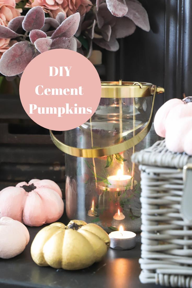DIY cement pumpkins