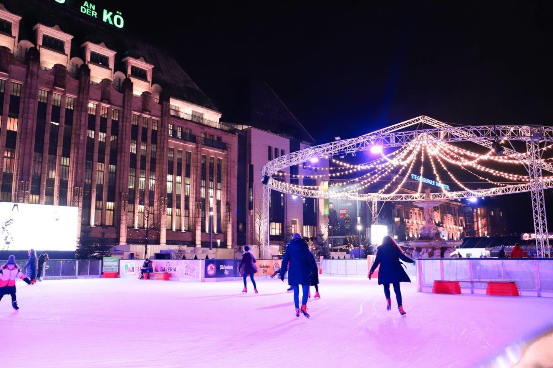 Ice skating christmas market