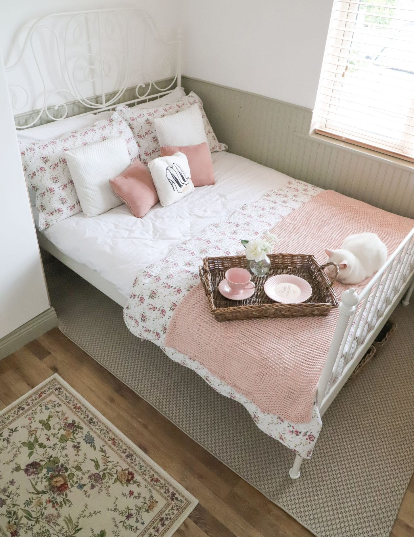 Ikea Leirvik bed frame, small bedroom, boho bedroom decor