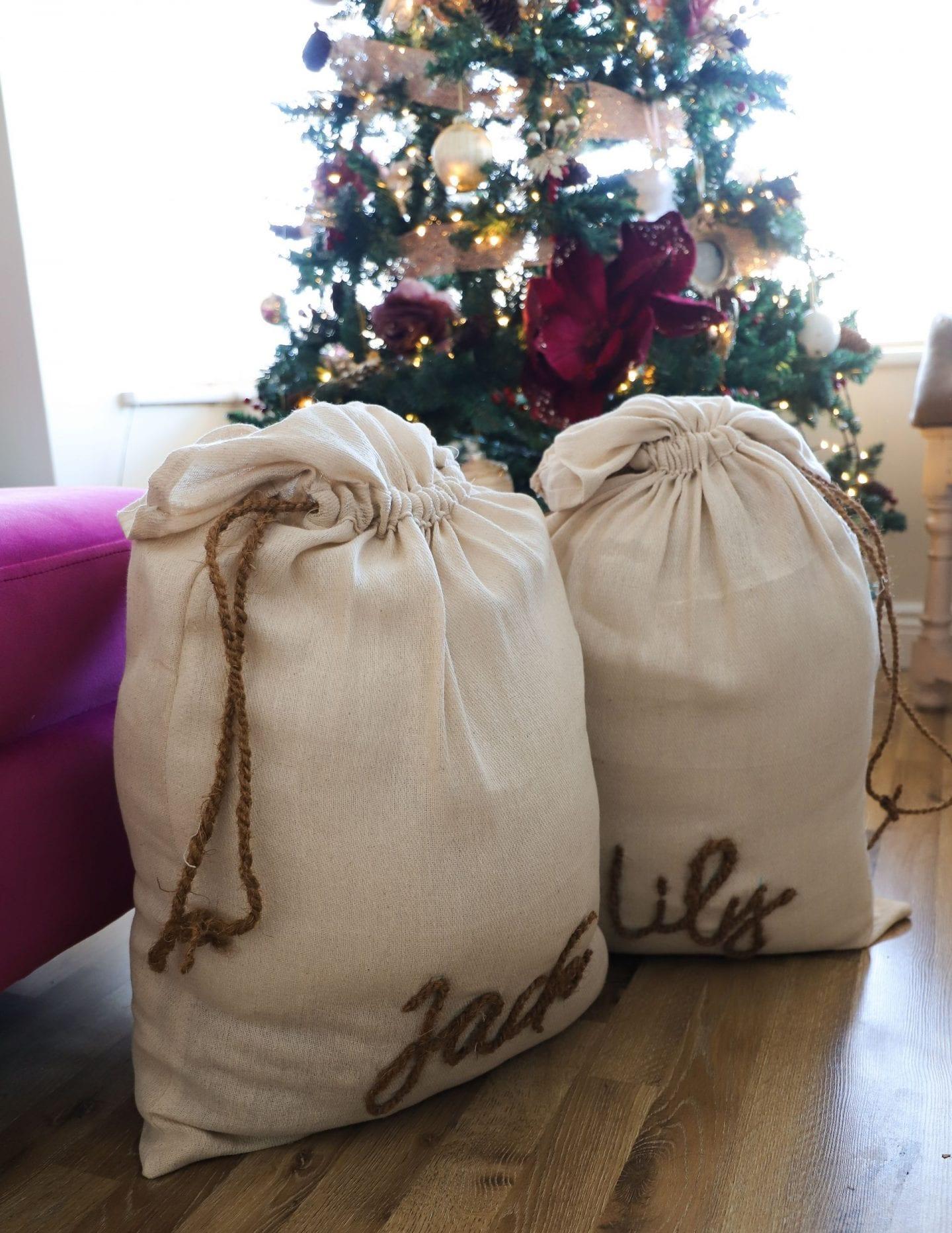 DIY Santa Sack Easy sew