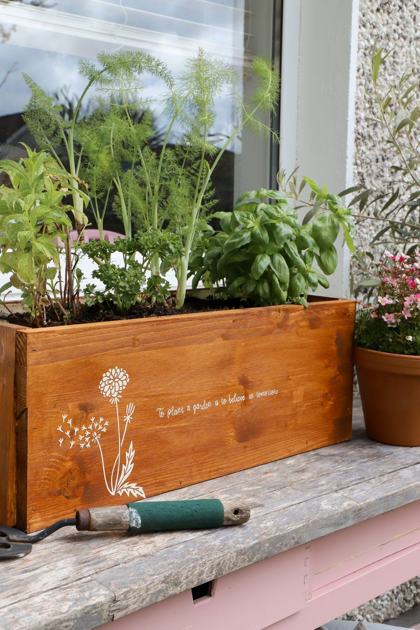 Personalised planter box