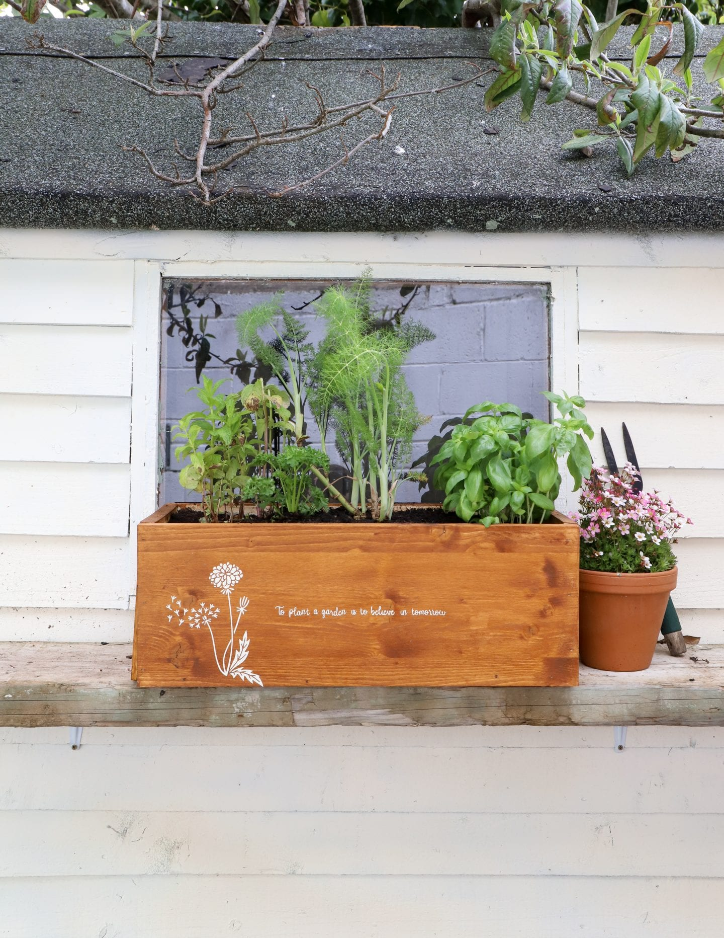 Peat free herb garden